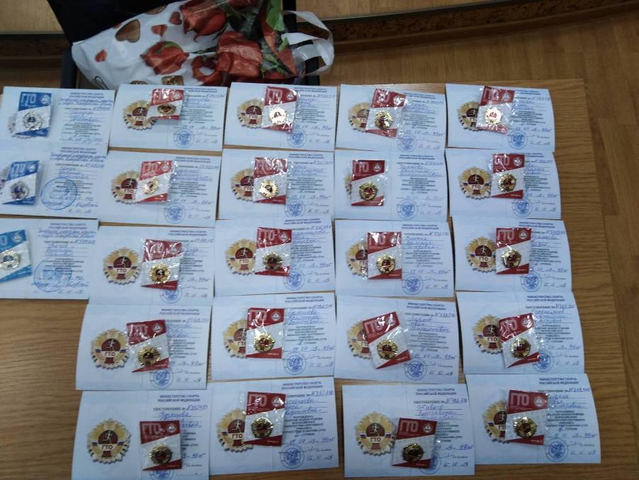 11 декабря - вручение значков ГТО студентам техникума