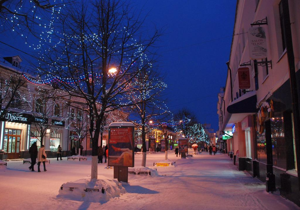 Улица Кирова зимой
